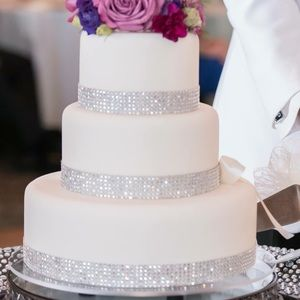 SOLD---Faux beautiful crystal wedding cake.